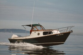23' Dory: wood power dories are light and fast