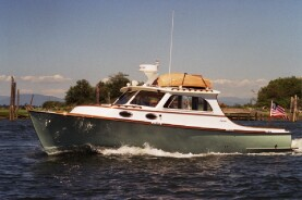 34' Odyssey: lobster boat styled pilothouse cruiser does 30 knots